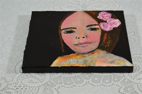 """Flowers in Her Hair"" original fine art by Katie Jeanne Wood"