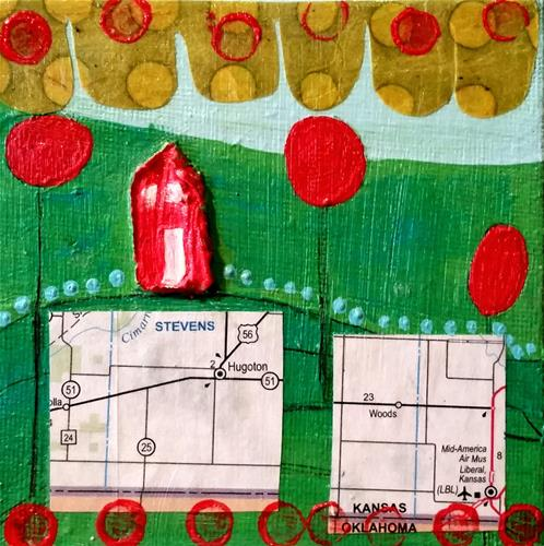 """Stencil 9 House # 70"" original fine art by Christy Tremblay"