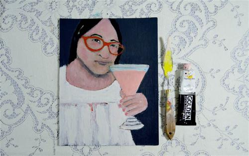 """Cheers to You"" original fine art by Katie Jeanne Wood"