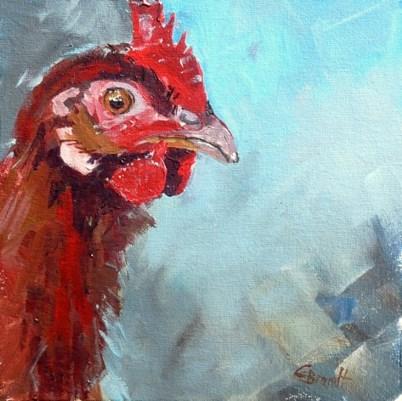 """""""chicken"""" original fine art by Claudia Brandt"""