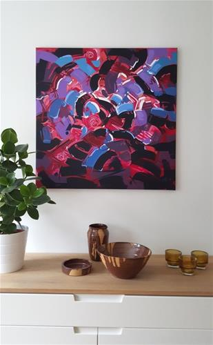 """Shapes & Movement 45"" original fine art by Roger Akesson"