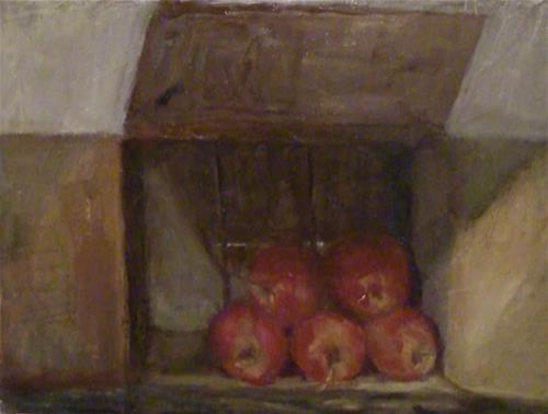 """Apples 4 Sale"" original fine art by Fred Medley"