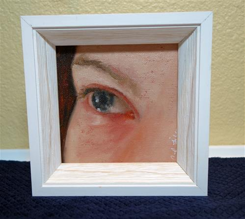 """Study of Child's Eye"" original fine art by Chrystale Files"