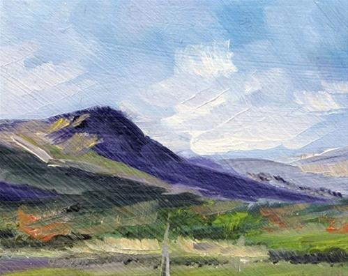 """""""Scottish Landscape"""" original fine art by Susan  Mackenzie"""