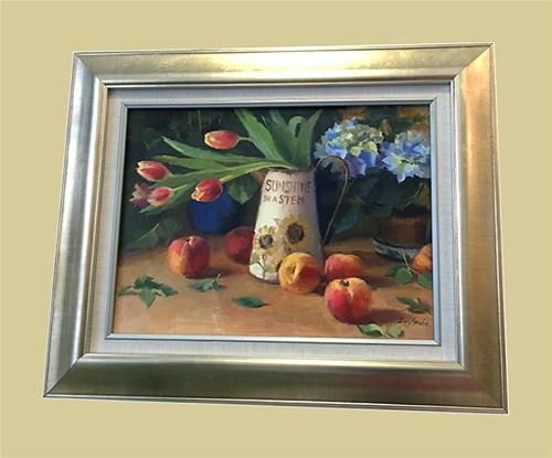 """Still Life with Tulips"" original fine art by Ling Strube"