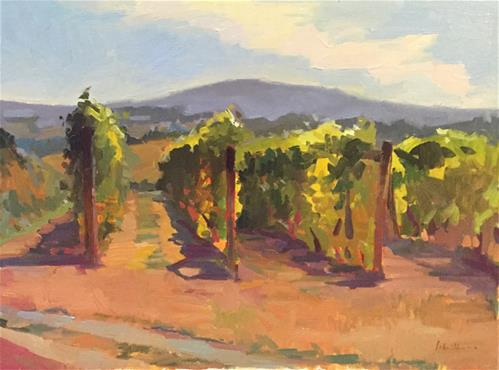 """Autumn in the VIneyard"" original fine art by Sarah Sedwick"