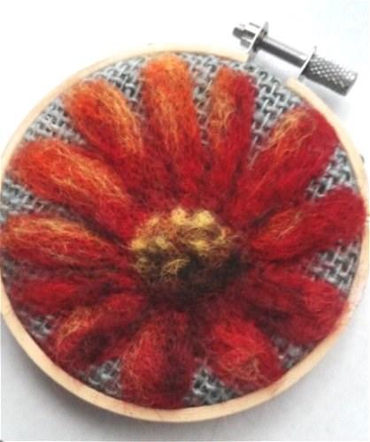"""Red Flower"" original fine art by Camille Morgan"