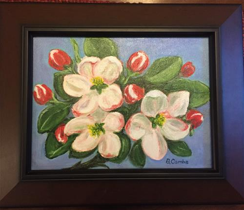 """Apple Blossoms"" original fine art by Bebe Combs"