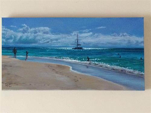 """Coastline"" original fine art by Michelle chen"