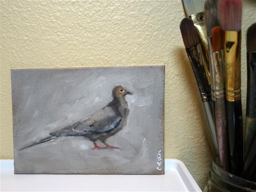 """""""Rock Dove"""" original fine art by Chrystale Files"""