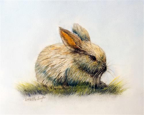 """""""Bunny"""" original fine art by Loretta Luglio"""