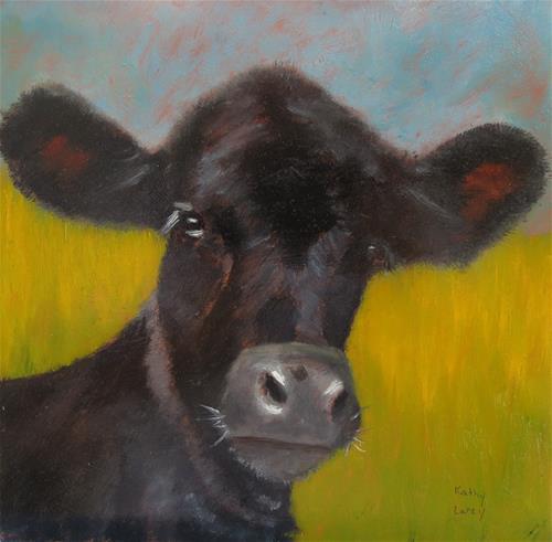 """Baby Longhorn"" original fine art by Kathy Carey"