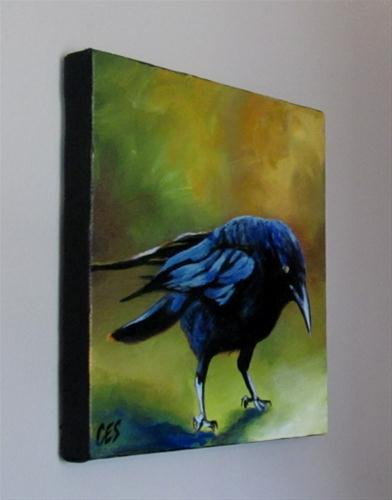 """Young Crow"" original fine art by ~ces~ Christine E. S. Code"