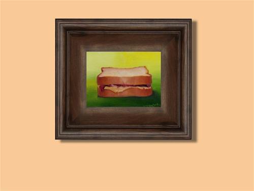 """PB&J sandwich"" original fine art by V. DeBak"