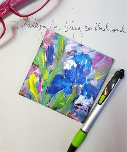 """""""Tiny Iris"""" original fine art by Sue Dion"""