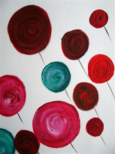 """Among The Roses"" original fine art by Alina Frent"