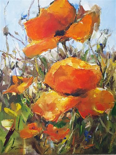 """poppy"" original fine art by Teresa Yoo"