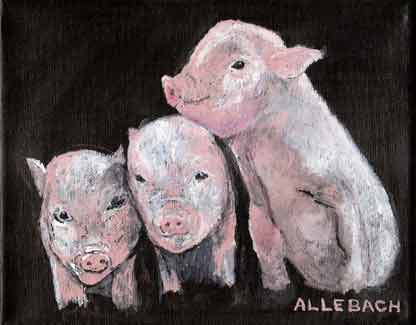 """Ferkel"" original fine art by Jo Allebach"