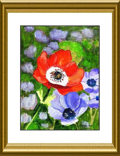 """""""Springtime Anemone"""" original fine art by Patricia Ann Rizzo"""