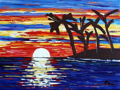 """SUNDOWN"" original fine art by Bob Phillips"