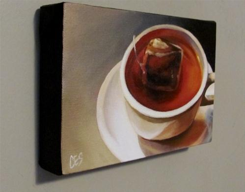 """Herbal Tea"" original fine art by ~ces~ Christine E. S. Code"