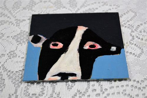 """Holstein Cow"" original fine art by Katie Jeanne Wood"