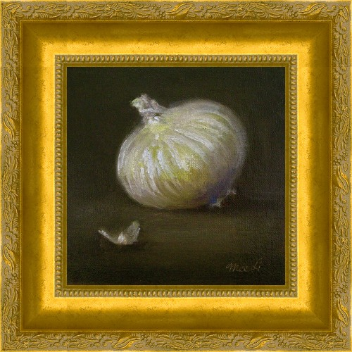 """White Onion"" original fine art by MeeLi Lee"