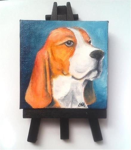 """Beagle"" original fine art by Camille Morgan"