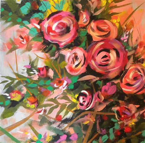 """Abundance of Joy"" original fine art by Jodi Workman"