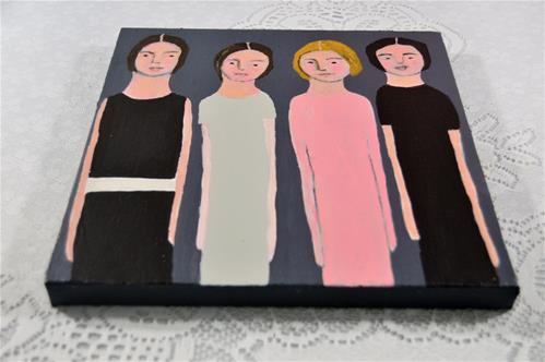 """Table for Four"" original fine art by Katie Jeanne Wood"