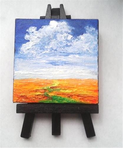 """Orange fields"" original fine art by Camille Morgan"