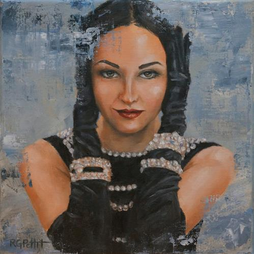 """Glamorous Life"" original fine art by Rhea  Groepper Pettit"