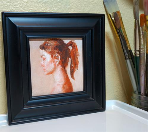 """Small Model Study"" original fine art by Chrystale Files"