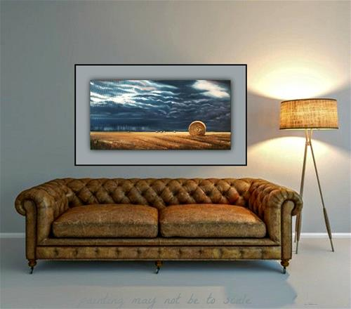 """Wheat Field Storm"" original fine art by Dana C"