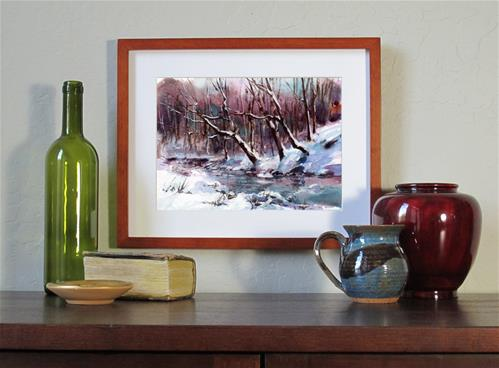 """Yesterday's Snow"" original fine art by Linda Henry"