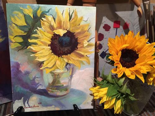 """Sunflower"" original fine art by Ann Buenaventura"