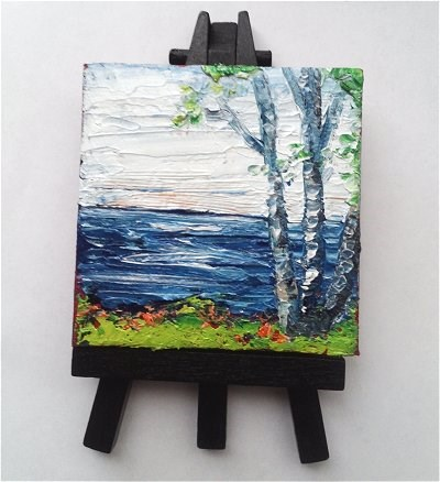 """Tree by the River"" original fine art by Camille Morgan"