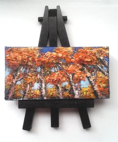 """Fall Trees"" original fine art by Camille Morgan"