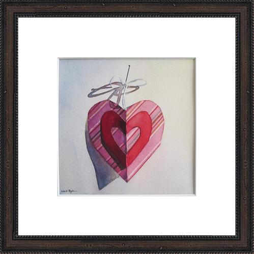 """Paper Heart No. 3"" original fine art by Kara K. Bigda"
