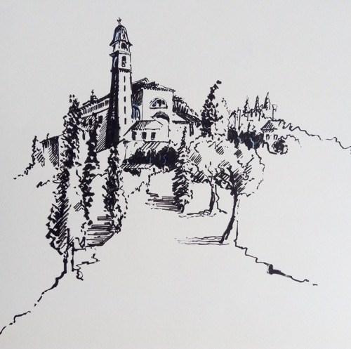 """1729 Arquà Petrarca"" original fine art by Dietmar Stiller"