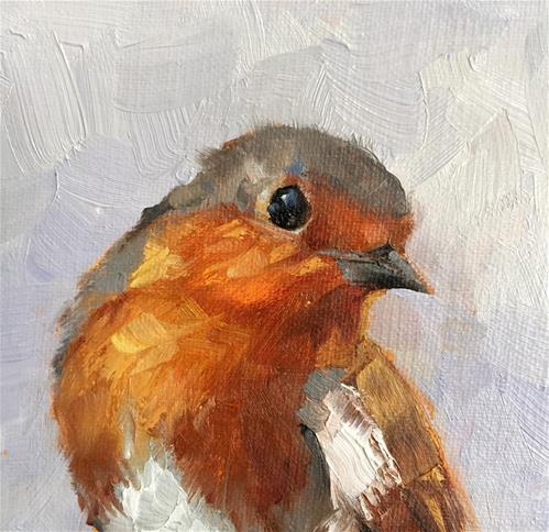 """Mr. Robin"" original fine art by Krista Eaton"