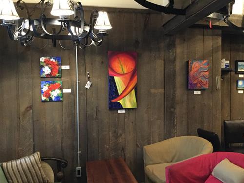 """4134 - Crimson Circle - Exhibition Size"" original fine art by Sea Dean"