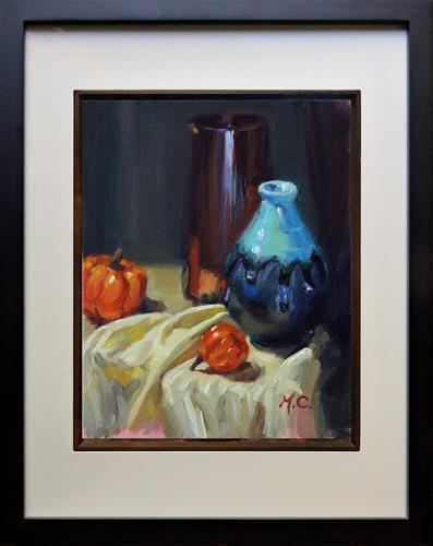"""""""Ceramic vs Glass"""" original fine art by Michelle chen"""