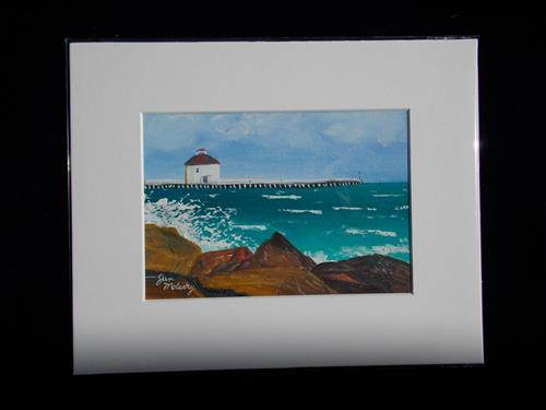 """Sandi's View"" original fine art by Jan Molesky"