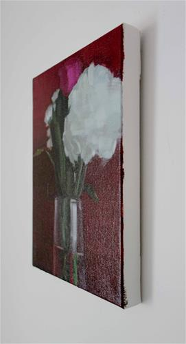 """Rose and Hydrangeas in Vase (no.125)"" original fine art by Michael William"