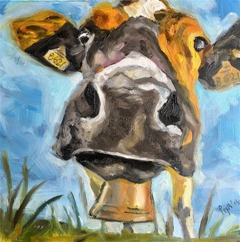 """Good Moo-rning"" original fine art by Piya Samant"