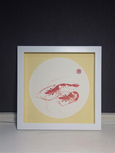 """""""Shrimp"""" original fine art by R kwong"""