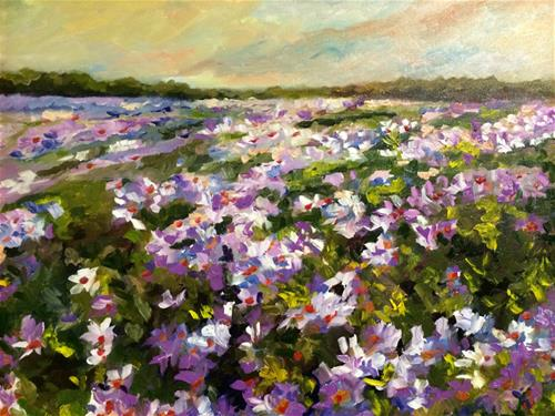 """Daisy Fields"" original fine art by Ramya Sarveshwar"