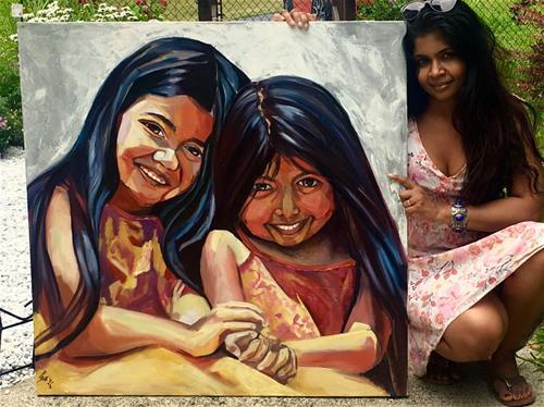 """""""Twining"""" original fine art by Piya Samant"""
