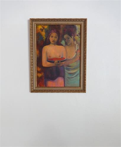 """3170 - Sisters - Master Series"" original fine art by Sea Dean"